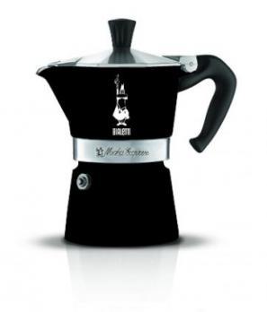 Гейзерная кофеварка Bialetti Moka Express Color (3 порции) 4952 черная