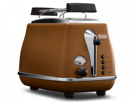 Тостер De'Longhi CTOV 2103 BW, коричневый